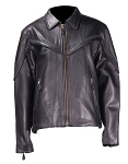 Women's Leather Jacket with Braid & Zip Out Lining