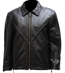 Women's V-Braid Leather Motorcycle Jacket
