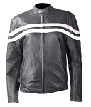 Women's Reversible Leather Motorcycle Jacket