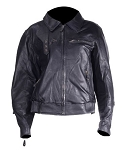 Women's Vented Leather Motorcycle Jacket, Zip Out Lining