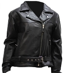 Women's Heavy Duty Leather Motorcycle Jacket