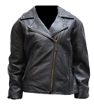 Womens Braided Leather Motorcycle Jacket
