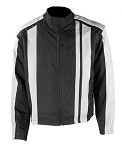 Men's Black and Gray Textile Motorcycle Jacket