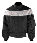Men's Black/Gray Textile Motorcycle Jacket