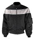 Men's Black/Gray Textile Motorcycle Jacket