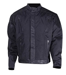 Men's Vented Textile & Leather Trim Motorcycle Jacket