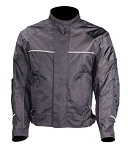 Men's Textile Motorcycle Jacket with Reflective Piping