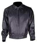 Mens Leather Bomber Jacket with Zip Out Lining