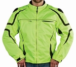Men's Green and Black Textile Motorcycle Jacket