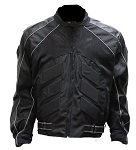Black Armored Textile Motocross Motorcycle Jacket