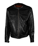 Mens Diamond Pattern Leather Motorcycle Jacket