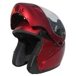 DOT Full Face Wine Modular Motorcycle Helmet