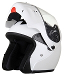 DOT Full Face Pearl White Modular Motorcycle Helmet