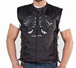 Men's Reflective Skulls Mesh Motorcycle Vest