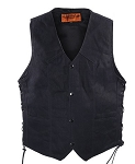 Black Concealed Carry Textile Vest with Gun Pockets