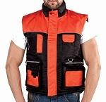 Mens Orange and Black Motorcycle Safety Vest