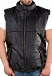 Mens Genuine Soft Leather Bubble Vest