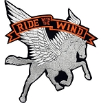 Ride with the Wind Motorcycle Jacket Patch