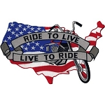 USA Ride to Live Motorcycle Jacket Patch