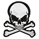 Skull Crossbones Motorcycle Jacket Patch
