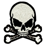Ride to Live Skull and Crossbones Motorcycle Jacket Patch