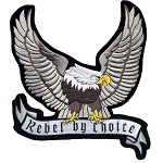 Silver Eagle Rebel by Choice Motorcycle Jacket Patch