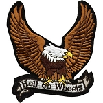 Eagle Hell on Wheels Motorcycle Jacket Patch