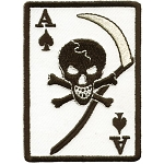 Ace of Spades Grim Skull Motorcycle Jacket Patch