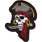 Pirate Skull Motorcycle Jacket Patch