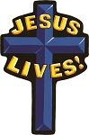 Jesus Lives Motorcycle Jacket Patch