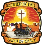 Justified by Faith and Saved by Grace Jacket Patch