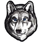 Wolf Head Motorcycle Jacket Patch