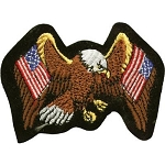 Eagle with American Flags Motorcycle Jacket Patch