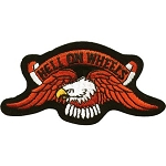 Eagle Hell on Wheels Motorcycle Jacket or Vest Patch