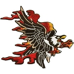Flaming Eagle Motorcycle Jacket Patch
