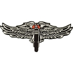 Chopper Wings Motorcycle Jacket Patch