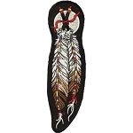 Tribal Indian Feather Motorcycle Jacket Patch