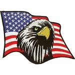 American Flag with Eagle Motorcycle Jacket Patch