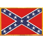 Confederate Flag Motorcycle Vest and Jacket Patch