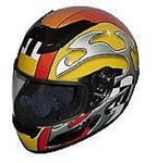 RZ-2 Yellow Blade Full Face Racing Helmet