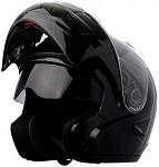 DOT Black Dual Visor Modular Motorcycle Helmet