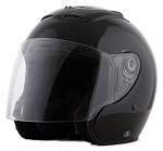 DOT Black Open Face Motorcycle Helmet with Flip Shield