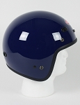 DOT Blue 3/4 Open Face Motorcycle Helmet with Visor