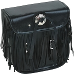 Motorcycle Sissy Bar Bag With Fringe, Braid, Conchos