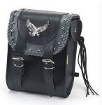 Studded Motorcycle Sissy Bar Bag With Eagle Emblem