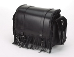 Motorcycle Sissy Bar Bag With Fringe and Braid