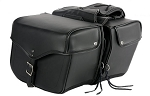 Motorcycle Saddlebag With 4 Tie Down Ribbons