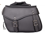 Plain Motorcycle Saddlebags with Quick Release Straps