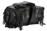 PVC Motorcycle Saddlebags With Fringe