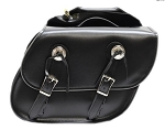 Motorcycle Saddlebags Leather With Reflective Trim